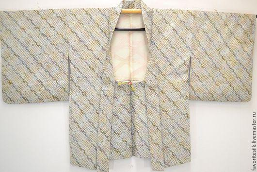 """Этническая одежда ручной работы. Ярмарка Мастеров - ручная работа. Купить Хаори из шёлка """"шибори"""" (Япония). Handmade. Шелк натуральный"""