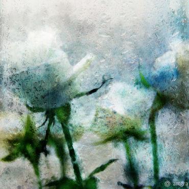 """Картины и панно ручной работы. Ярмарка Мастеров - ручная работа Акварель"""" Розы в дожде"""". Handmade."""