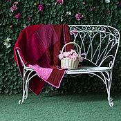 Для дома и интерьера ручной работы. Ярмарка Мастеров - ручная работа Вязаный на спицах чистошерстяной разноцветный плед. Handmade.