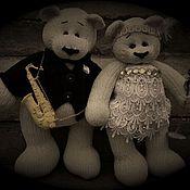 """Куклы и игрушки ручной работы. Ярмарка Мастеров - ручная работа Свадебные мишки в стиле """"Джаз"""". Handmade."""
