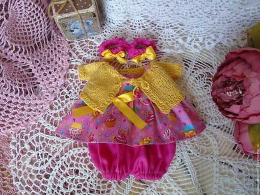Одежда для кукол ручной работы. Ярмарка Мастеров - ручная работа. Купить Летний наряд для новой куколки. Handmade. Комбинированный