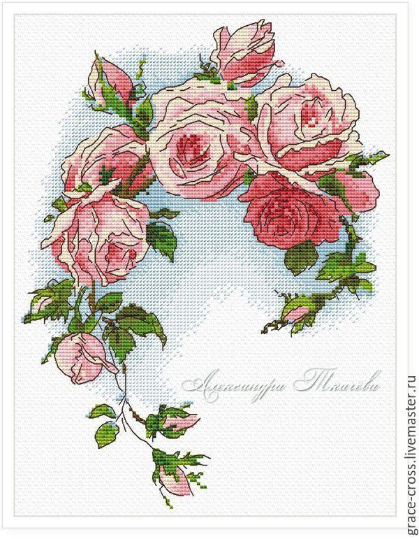 Купить Розы. Схема для вышивки