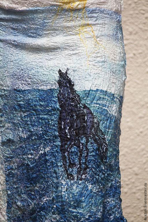 Платья ручной работы. Ярмарка Мастеров - ручная работа. Купить Нуно валяное платье Год лошади. Handmade. Белый