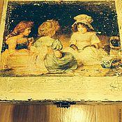 Для дома и интерьера ручной работы. Ярмарка Мастеров - ручная работа Коробка для чайных пакетиков. Handmade.