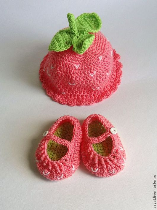 """Для новорожденных, ручной работы. Ярмарка Мастеров - ручная работа. Купить Комплект для фото сессии """"Ягодка"""". Handmade. Розовый"""