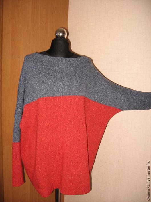"""Кофты и свитера ручной работы. Ярмарка Мастеров - ручная работа. Купить Свитер """"Твидовый сембиоз"""". Handmade. Ярко-красный, релакс"""