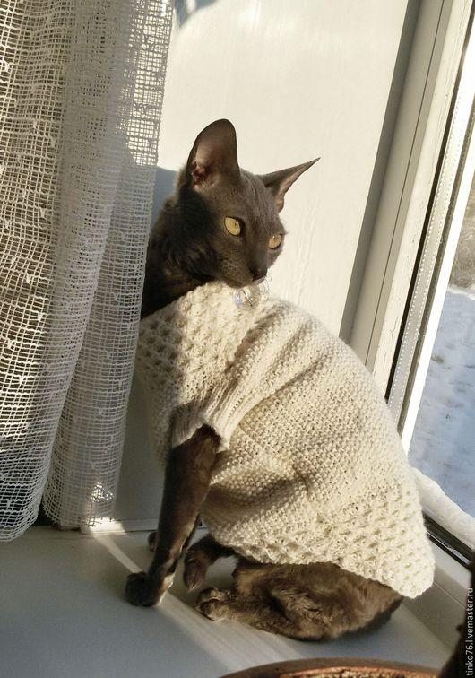 """Одежда для кошек, ручной работы. Ярмарка Мастеров - ручная работа. Купить Кофточка для кошечки """"Снежная королева"""". Handmade. Белый"""
