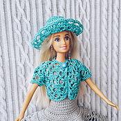 Одежда для кукол ручной работы. Ярмарка Мастеров - ручная работа Одежда для Барби. Комплект: Шляпа, болеро и платье. Handmade.