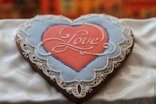 Кулинарные сувениры ручной работы. Ярмарка Мастеров - ручная работа. Купить Пряничное сердце. Handmade. Пряничное сердце