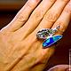 """Кольца ручной работы. Кольцо """"Euselasia"""" с опалом. Mukha Jewellery (DragonStone). Интернет-магазин Ярмарка Мастеров. Кольцо с опалом"""