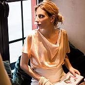 Одежда ручной работы. Ярмарка Мастеров - ручная работа Блуза из натурального итальянского шелка. Handmade.
