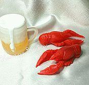 """Косметика ручной работы. Ярмарка Мастеров - ручная работа Набор мыла """" Пиво с раками """". Handmade."""