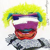 Одежда handmade. Livemaster - original item Warm winter beanie for the skier snowboarder with a Mohawk. Handmade.