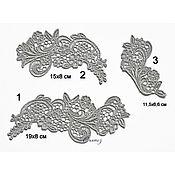 Материалы для творчества handmade. Livemaster - original item embroidery applique inset stripe Floral trio. Handmade.