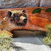 """Часы классические ручной работы. Ярмарка Мастеров - ручная работа Часы настенные """"Медведь. Handmade."""
