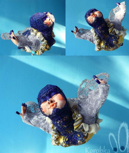 Коллекционные куклы ручной работы. Ярмарка Мастеров - ручная работа. Купить Синичка. Handmade. Синий, птица, птички