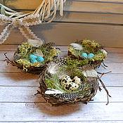 Пасхальные сувениры ручной работы. Ярмарка Мастеров - ручная работа Гнездо пасхальное. Handmade.