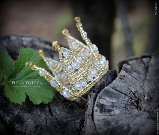"""Детская бижутерия ручной работы. Ярмарка Мастеров - ручная работа. Купить Корона """"little princess"""" . Корона маленькая золотая.. Handmade."""
