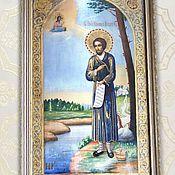 Картины и панно handmade. Livemaster - original item The icon of St. Simeon of Verkhoturye. dot painting.. Handmade.