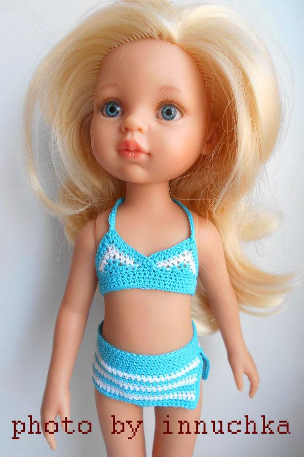 Купальник для Паола Рейна бирюзовый, Одежда для кукол, Санкт-Петербург,  Фото №1