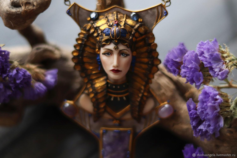Cleopatra necklace sculpture, miniature,, Necklace, Vladimir,  Фото №1