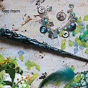Субкультуры handmade. Livemaster - original item The author`s Magic wand Harry Potter mint green mother of pearl. Handmade.