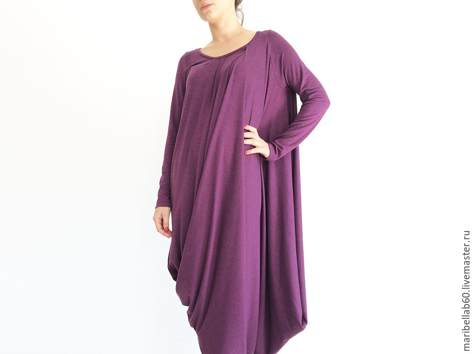 purple dress. Asymmetrical dress-tunic 'KALI', Dresses, Sofia,  Фото №1