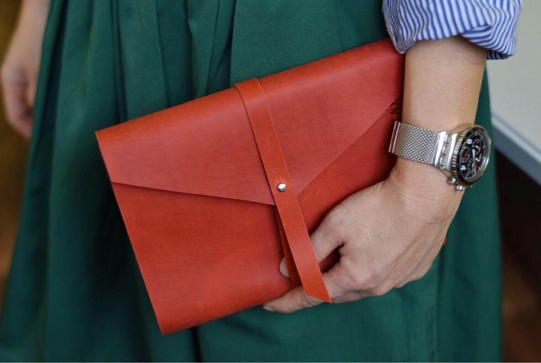 Красный кожаный блокнот а5 на кольцах из натуральной кожи Crazy Horse, Блокноты, Москва,  Фото №1