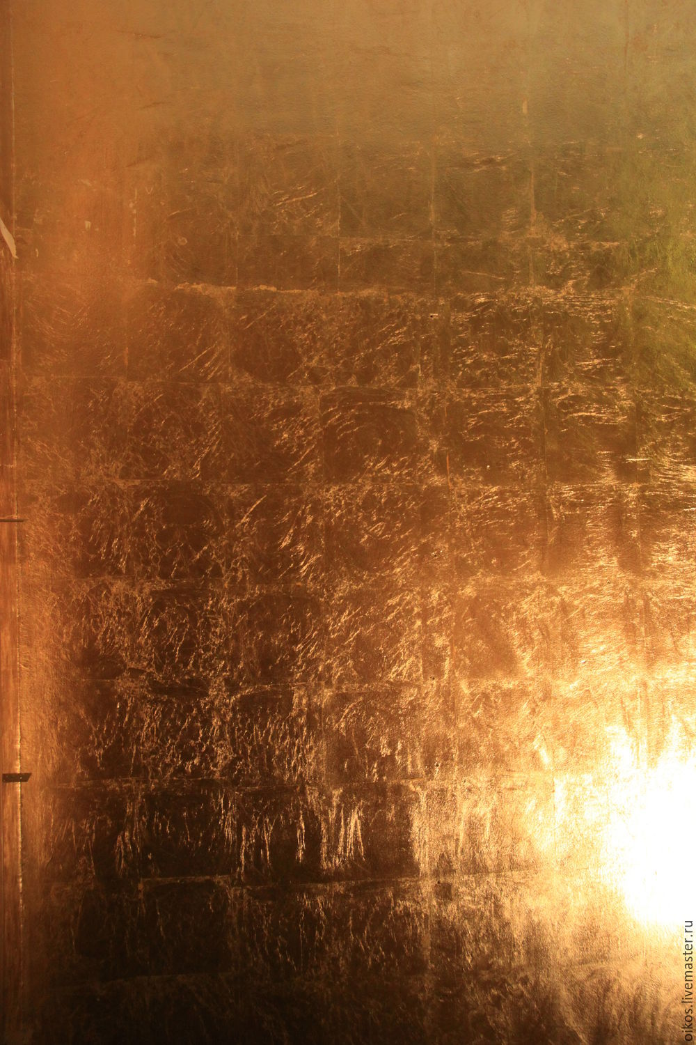 Niche in the wall covered with gold leaf by the method of squares in Saint Petersburg, Decor, St. Petersburg,  Фото №1