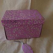 Подарки к праздникам ручной работы. Ярмарка Мастеров - ручная работа коробка подарочная раскладная ВЕТОЧКИ. Handmade.