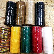 Фурнитура для шитья ручной работы. Ярмарка Мастеров - ручная работа Фурнитура для шитья: Нитки плоские вощеные плетеные 0,8мм 100м. Handmade.