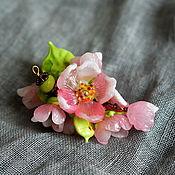"""Украшения ручной работы. Ярмарка Мастеров - ручная работа кулон """"Май. Яблоня цветёт"""" авторский лэмпворк. Handmade."""