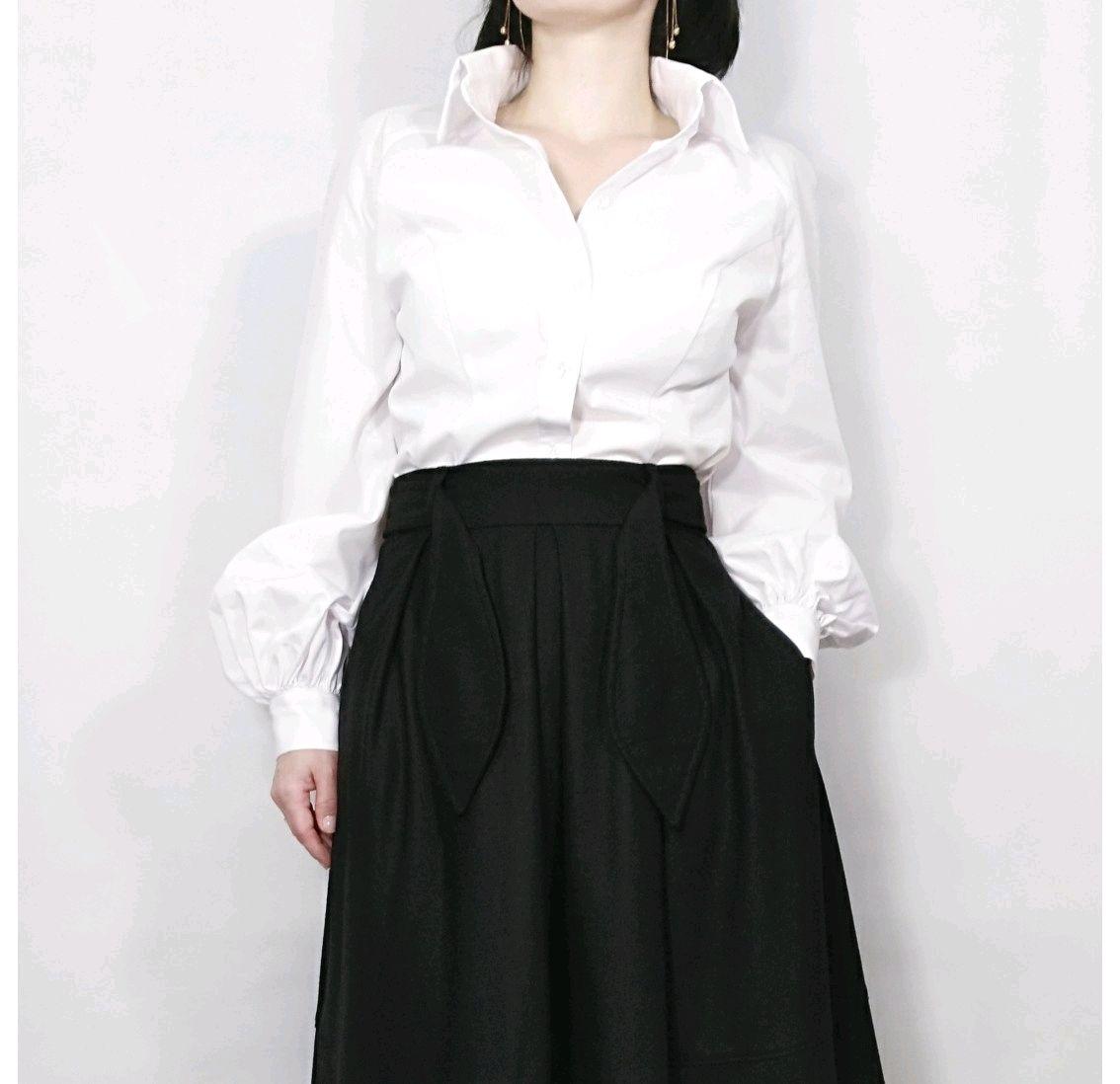 2078825de89 Белая блузка с пышными рукавами – купить в интернет-магазине на ...