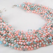 Украшения handmade. Livemaster - original item Artisan jewelry Gemstone necklace Crochet necklace Boho Gift for you. Handmade.