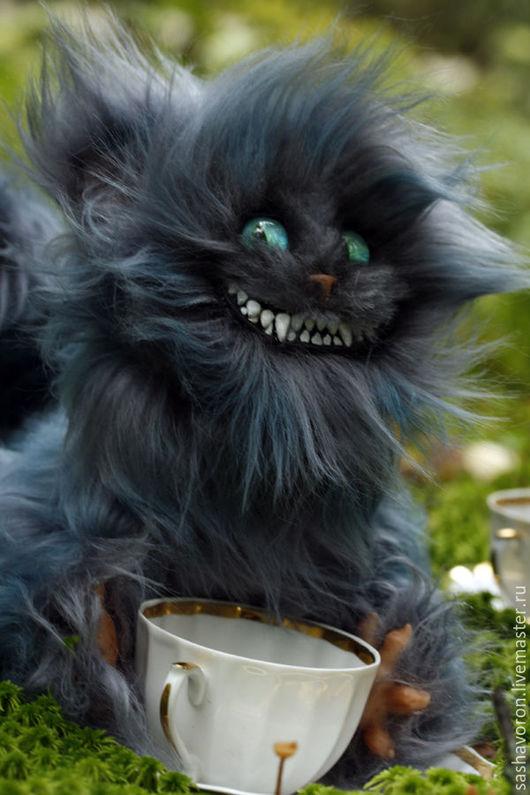 Игрушки животные, ручной работы. Ярмарка Мастеров - ручная работа. Купить Чеширский кот. Handmade. Тёмно-бирюзовый, котик