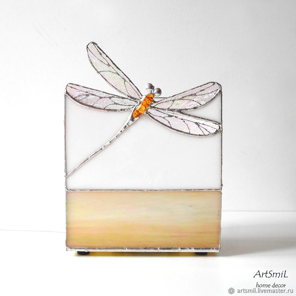Lamp Dragonfly Decorative Made Of Gl