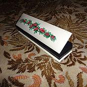 """Сувениры и подарки ручной работы. Ярмарка Мастеров - ручная работа шкатулка для браслета.""""Плетистая роза"""". Handmade."""