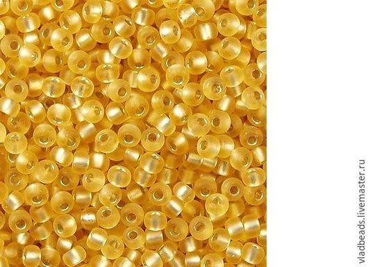 Для украшений ручной работы. Ярмарка Мастеров - ручная работа. Купить Бисер круглый Miyuki 15/0 1902 Semi Matte Silver Lined Gold. Handmade.