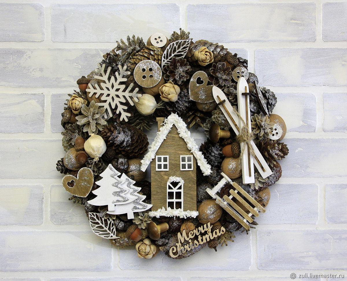 NEW YEAR: Christmas wreath ' Winter fun', Wreaths, Podolsk,  Фото №1