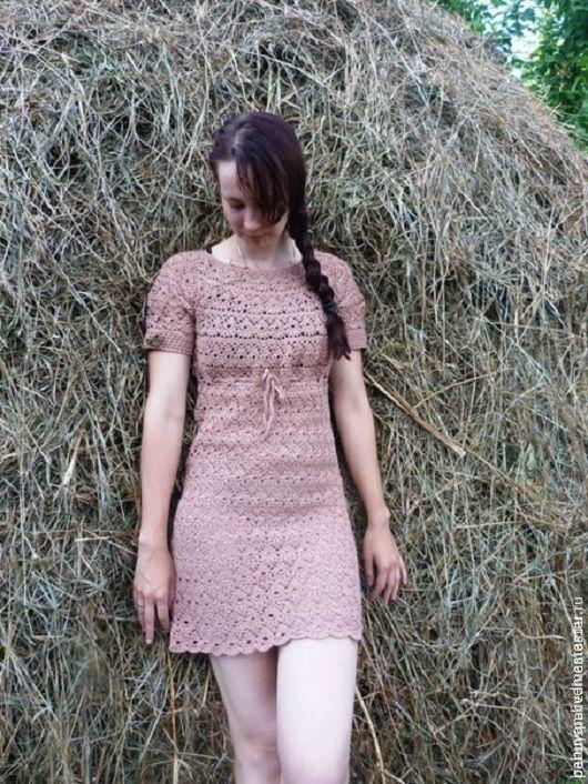 Платья ручной работы. Ярмарка Мастеров - ручная работа. Купить Платье Вязанное. Handmade. Бежевый, платье, платье без швов
