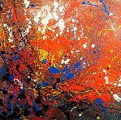 Картины и панно ручной работы. Ярмарка Мастеров - ручная работа Взгляд, пойманной в паутину бабочки, на закат солнца сквозь лесные ели. Handmade.
