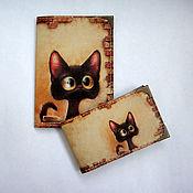 """Подарки к праздникам ручной работы. Ярмарка Мастеров - ручная работа Комплект """"Любопытный кот 2""""2. Handmade."""
