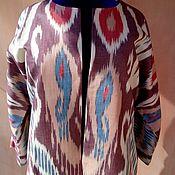 Одежда handmade. Livemaster - original item Uzbek ikat chapan from. Boho coat, caftan. Handmade.