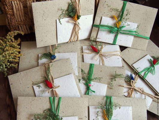 Персональные подарки ручной работы. Ярмарка Мастеров - ручная работа. Купить Дух Весны. Набор конвертов ручной работы. Handmade.