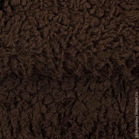 Шитье ручной работы. Ярмарка Мастеров - ручная работа. Купить Плюш коричневого цвета под старину. Handmade. Ткань