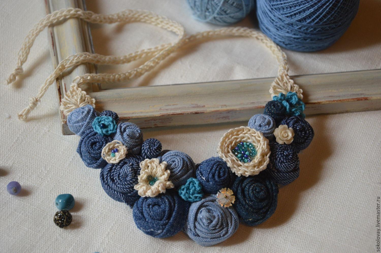 Ожерелье своими руками из джинс