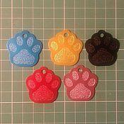 Для домашних животных, ручной работы. Ярмарка Мастеров - ручная работа Жетон для собаки лапка. Handmade.