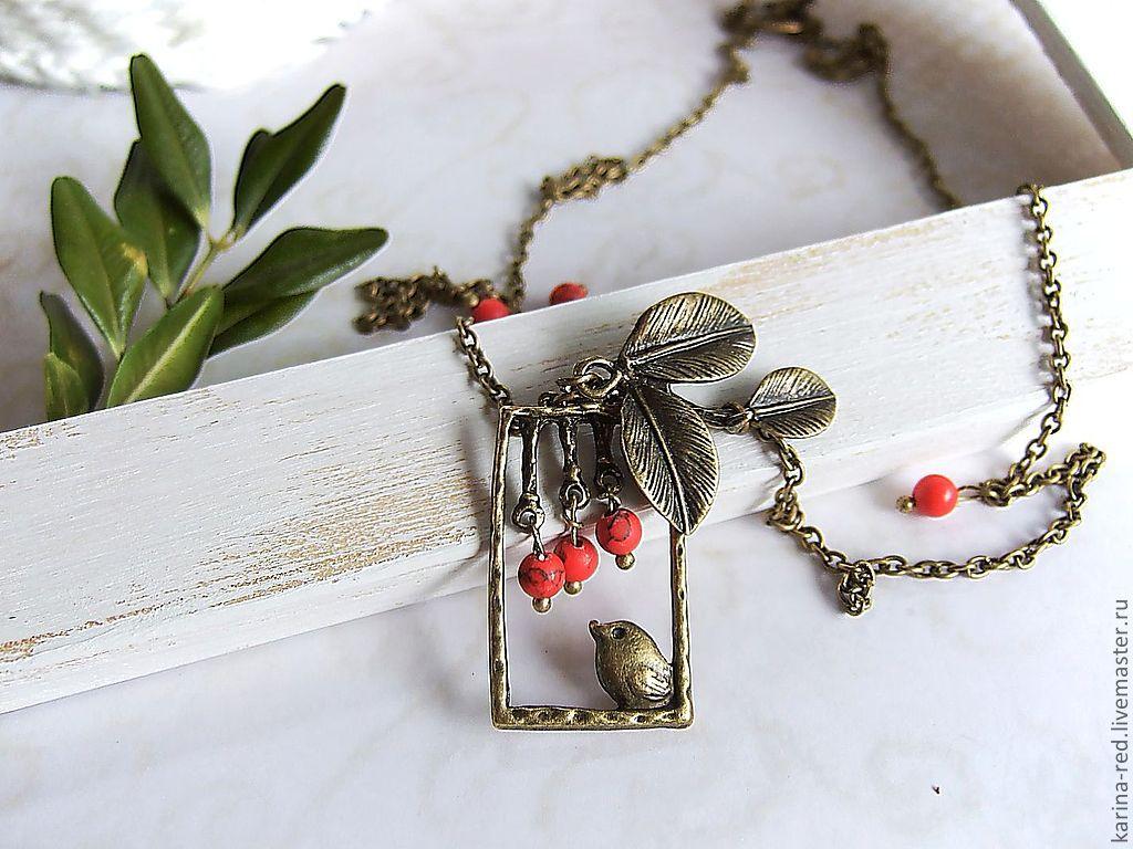 Vintage Pendant necklace bird on a Branch Vintage, Pendants, Taganrog,  Фото №1