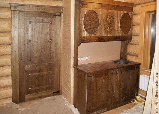 """Мебель ручной работы. Ярмарка Мастеров - ручная работа. Купить Мини-кухня под старину """"Медведи"""" 1400 мм. Handmade."""
