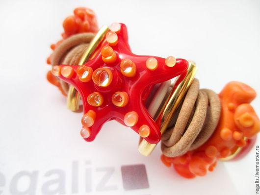 """Браслеты ручной работы. Ярмарка Мастеров - ручная работа. Купить Браслет  Regaliz """"Коралловый риф"""". Handmade. Браслет регализ"""